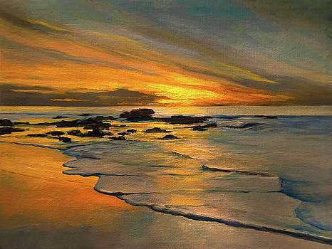 Sunset Cliff Beach by Anthony Enyedy