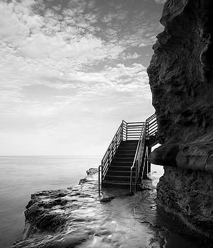 Sunset Cliffs Stairwell by William Dunigan