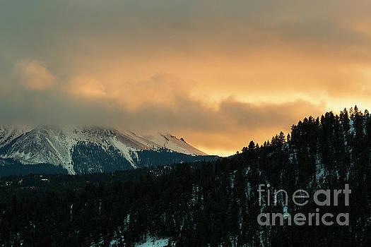 Steve Krull - Sunset Clouds on Pikes Peak