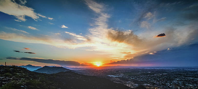 Sunset colors  by Mike Dunn