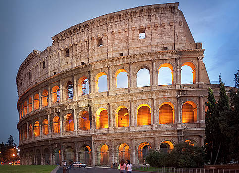 Sunset Coloseum Rome by Alex Saunders
