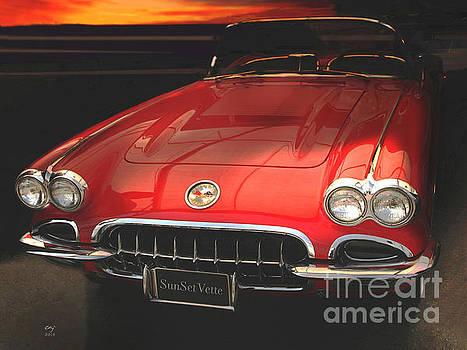 Sunset Corvette by Curt Johnson