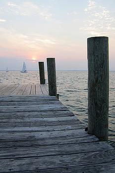 Sunset Dockside by Jim Clark