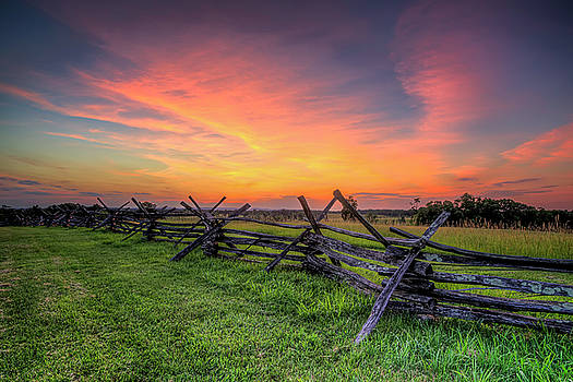 Sunset Fence by Ryan Wyckoff