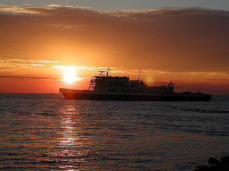Sunset Ferry by Ron and Linda Balogh