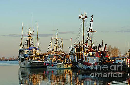 Sunset Fishing Boats by Randy Harris