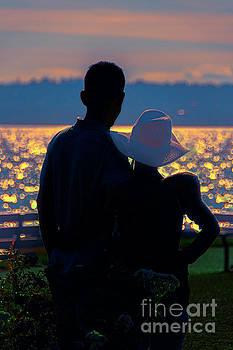 Sunset for two by Viktor Birkus