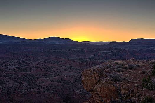Sunset from Chimney Rock by Jim Allsopp