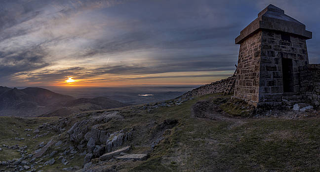 Sunset from Commedagh by Glen Sumner