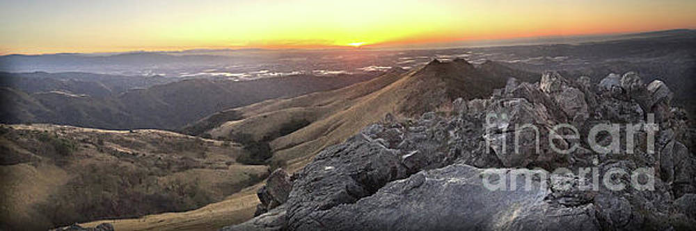California Views Mr Pat Hathaway Archives - Sunset from Fremont Peak in the Gabilan Range -  Dec. 3. 2017