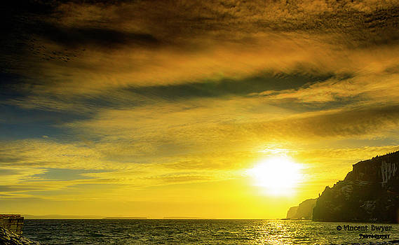 Sunset From The Beach by Vincent Dwyer