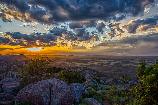 Sunset from the Heavens by James Menzies