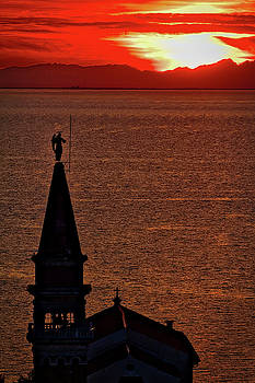 Sunset From the Walls #4 - Piran Slovenia by Stuart Litoff