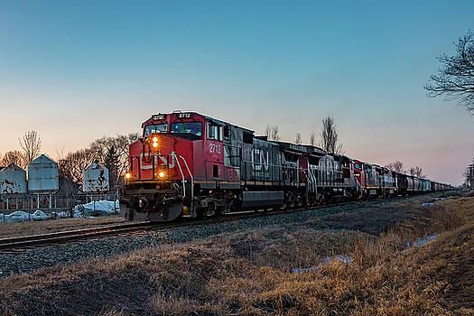 Sunset Grain Train by Steve Boyko