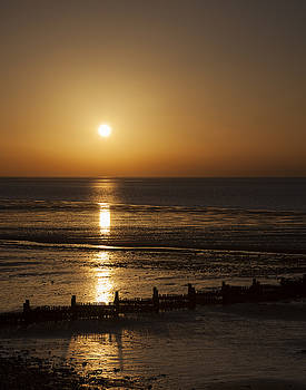 Sunset Hunstanton by Gillian Dernie