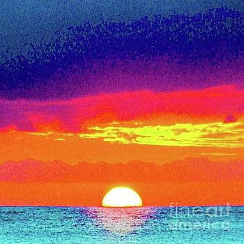 Sunset in Abstract 500 by D Davila