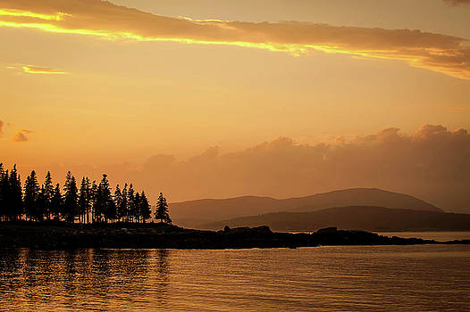 Sunset in Acadia  by JD  Fielding