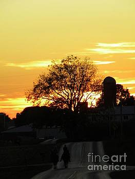 Sunset in Amish Country by Kristy Evans