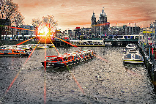 Sunset in Amsterdam by Youshij Yousefzadeh