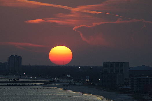 Sunset in Biloxi by Rosalin Moss