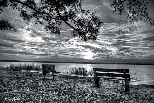 Sunset In Black And White by Phil Mancuso