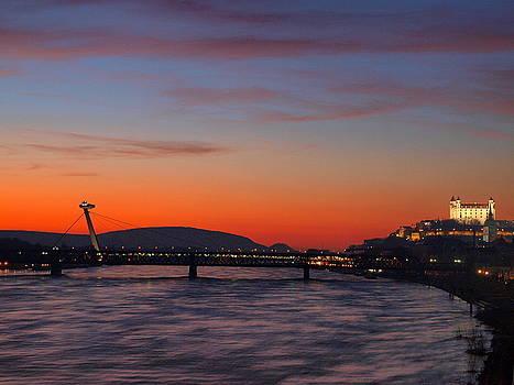 Sunset in Bratislava by Tomas Trojcak
