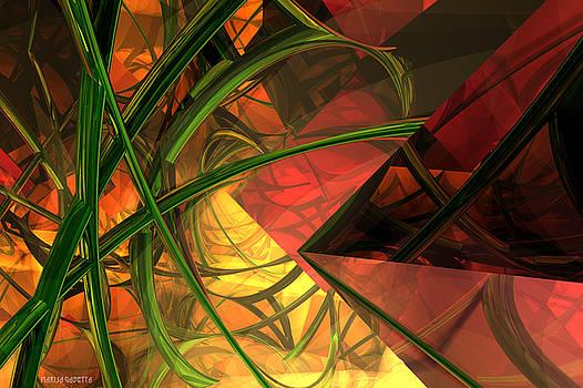 Sunset in cyber forest by Marisa Gabetta