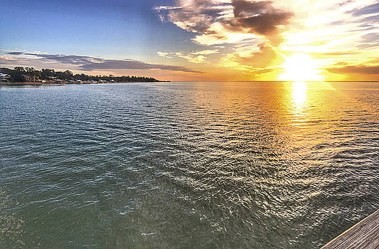 Sunset in Fairhope, Alabama on Mobile Bay by Marcus Bowman