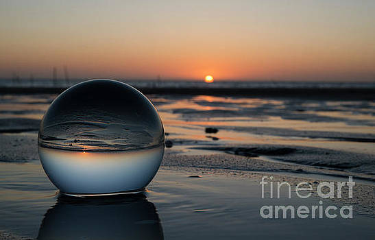 Sunset In Glass Shpere by Compuinfoto