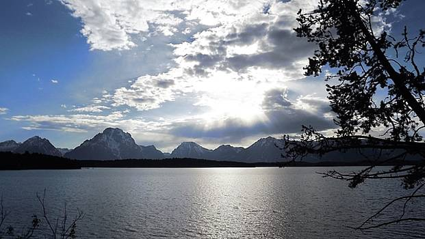 Sunset in Grand Tetons National Forest by Barkley Simpson