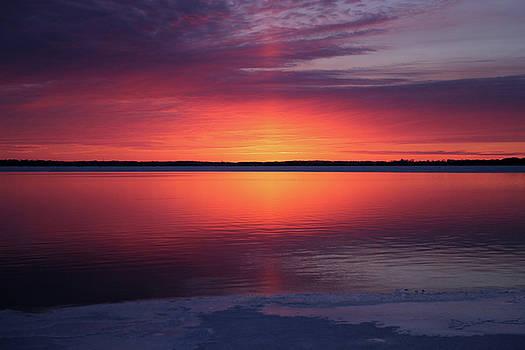 Sunset in Iowa by Steve Yezek