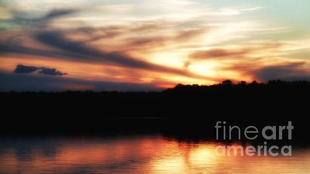 Sunset in Maine by Hilary England