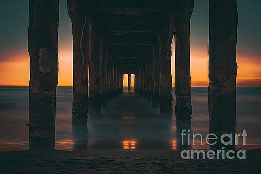Sunset in Manhattan Beach by Art K
