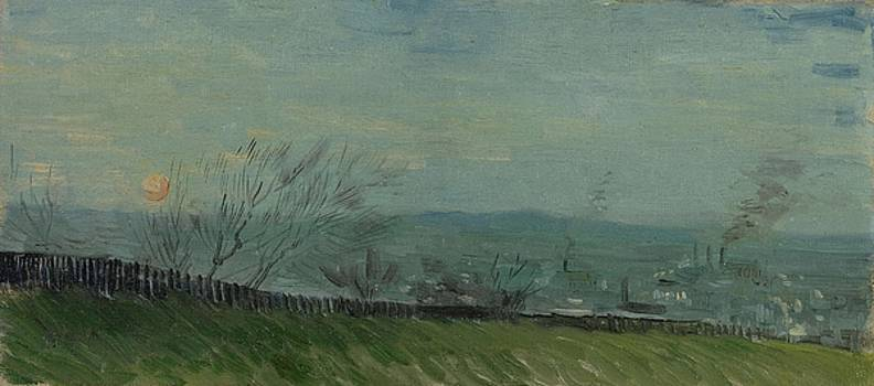 Sunset in Montmartre Paris, February - March 1887 Vincent van Gogh 1853  1890 by Artistic Panda