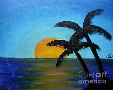 Sunset In Paradise by Dawn Plyler