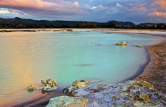 Venetia Featherstone-Witty - Sunset in Rotorua New Zealand