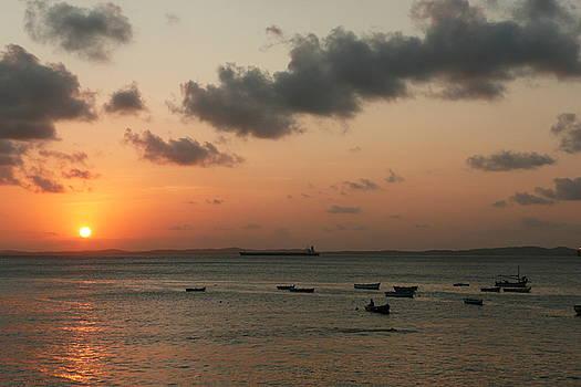 Sunset in Salvador Brazil by Kathy Schumann