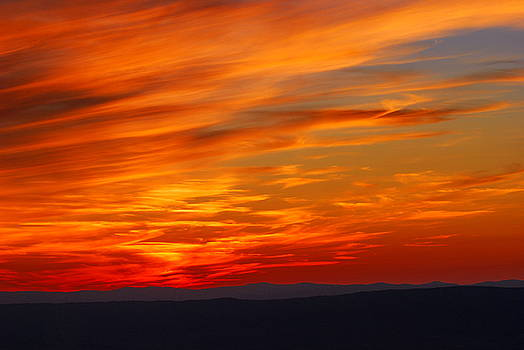 Sunset in Shenandoah National Park by Francie Davis