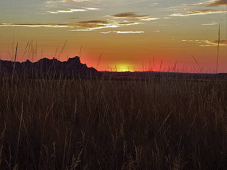 Sunset in the Badlands by Teri Ridlon