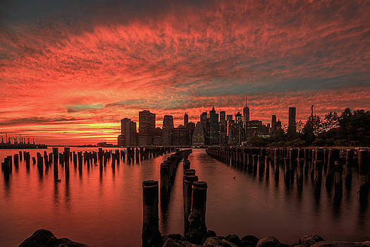 Sunset in the city by Anthony Fields