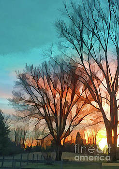 Sunset In The Country by Kerri Farley