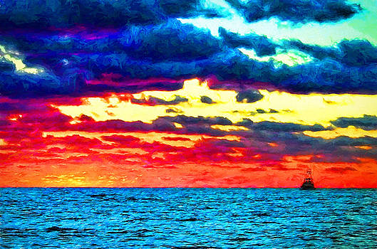Sunset in the Gulf of Mexico by Ray Keeling