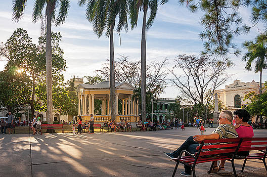 Sunset in the park in Santa Clara, Cuba by Daniela Constantinescu