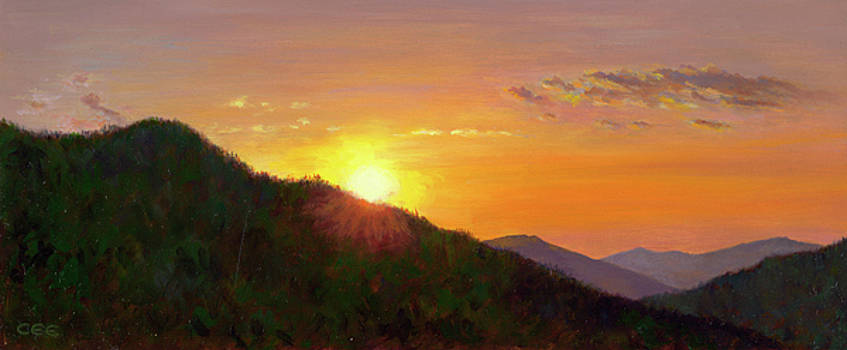 Sunset in the Smokies by Christa Eppinghaus