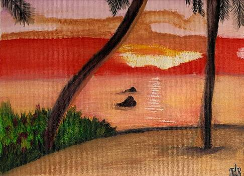 SunSet in the Tropics by Mark Richard Luther