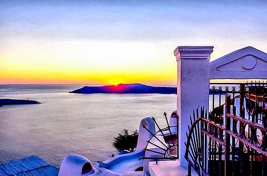 Sunset in Thira  by Sergey Simanovsky