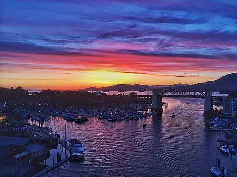 Sunset in Vancouver with Burrard Bridge #1 by Steffani Cameron