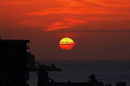 sunset Isla Verde by Lamyl Hammoudi