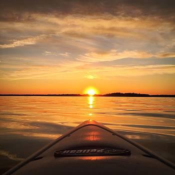 Sunset Kayak 2 by Christine Sharp