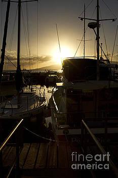 Sunset Lahaina Harbour Maui Marinas Hawaii by Sharon Mau